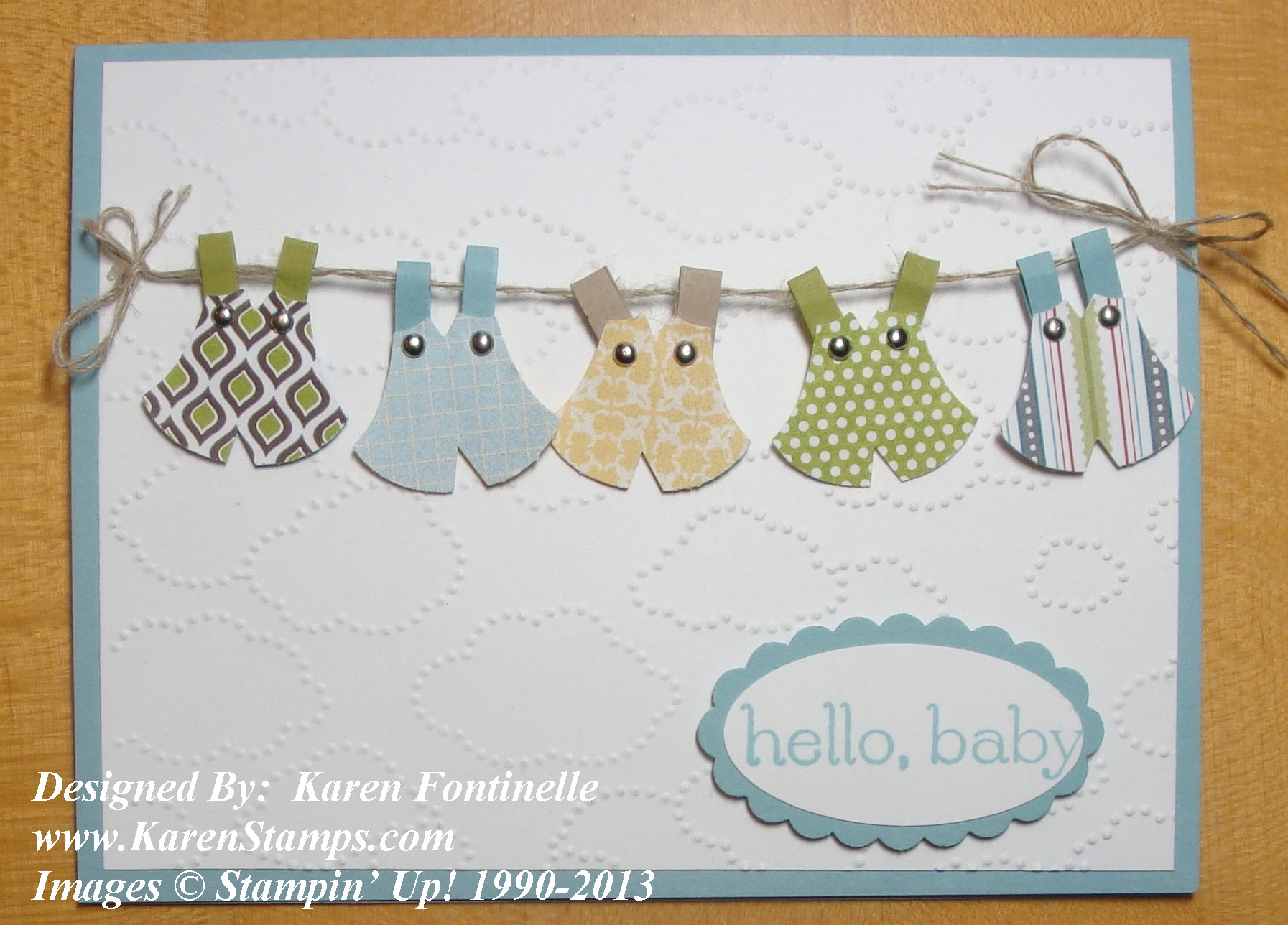 Owl Punch for a Baby Card