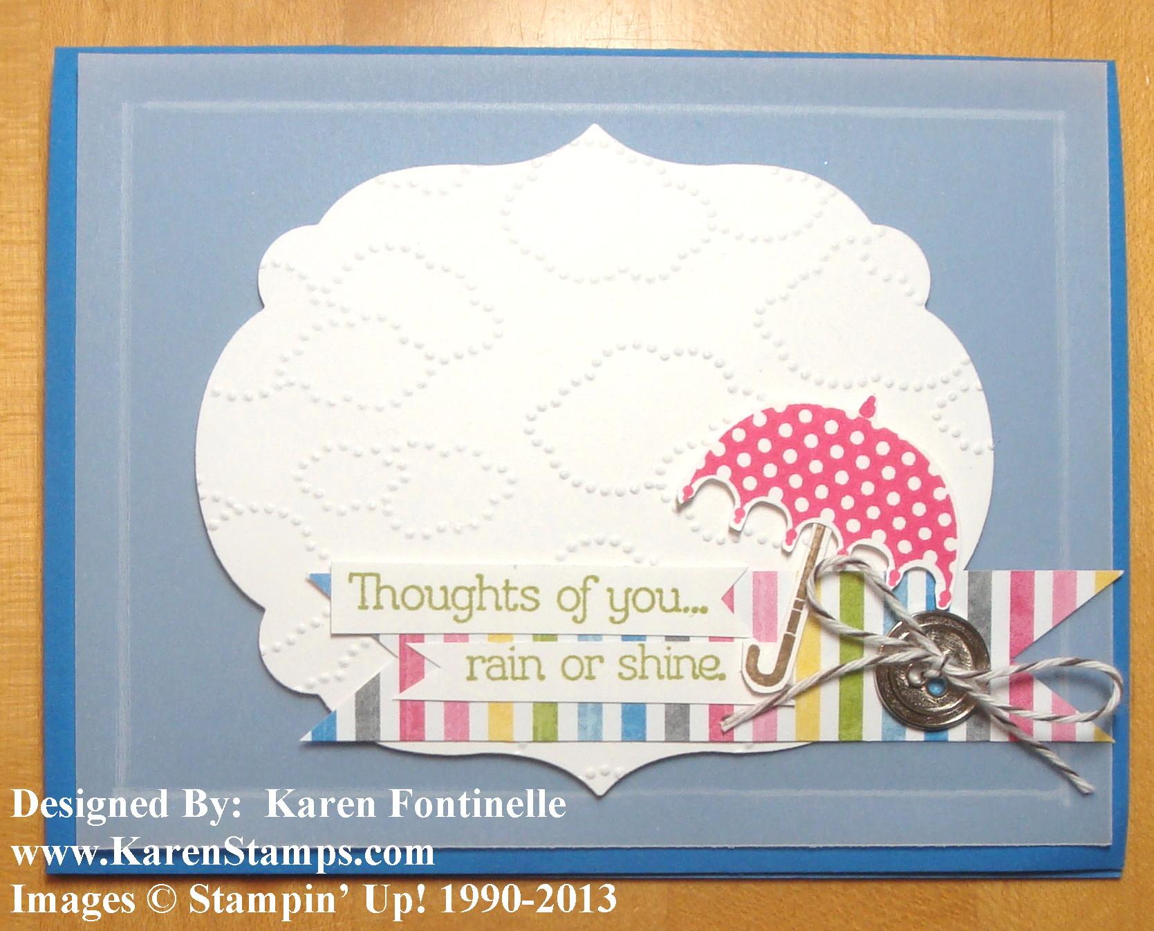Sunshine & Sprinkles Rainy Day Card