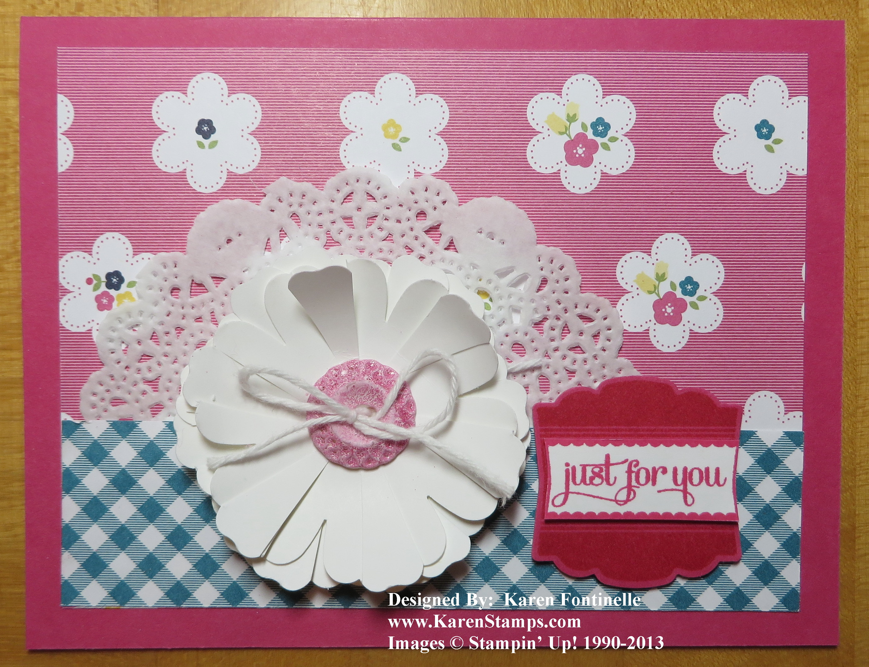 Gingham Garden All-Occasions Card