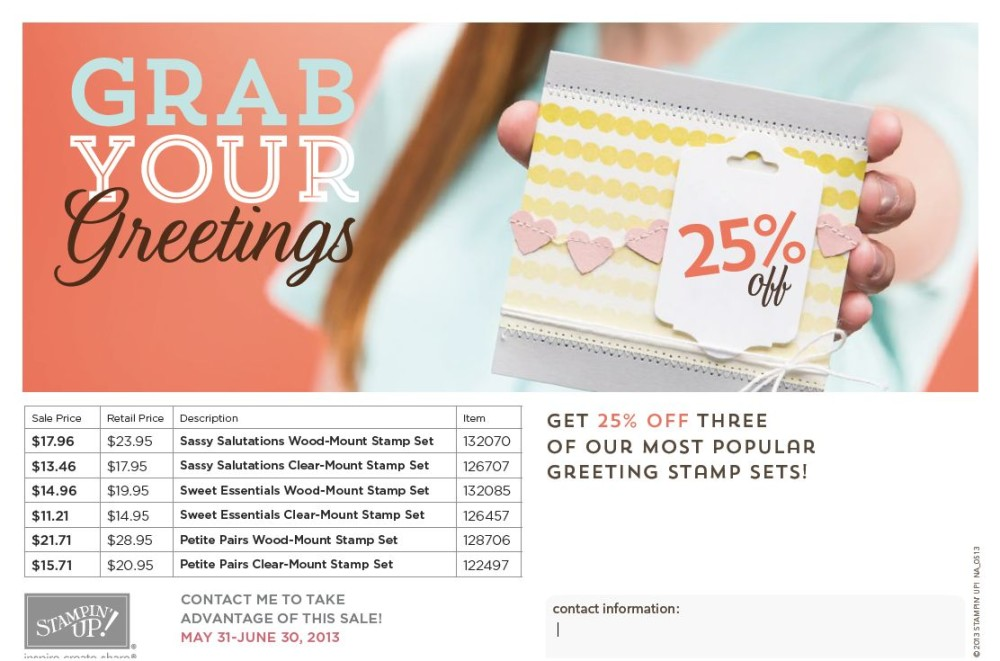 Grab Your Greetings Offer on Stampin' Up! Greetings Stamp Sets