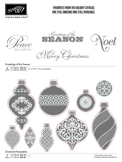 Stampin' Up! Holiday Carryover
