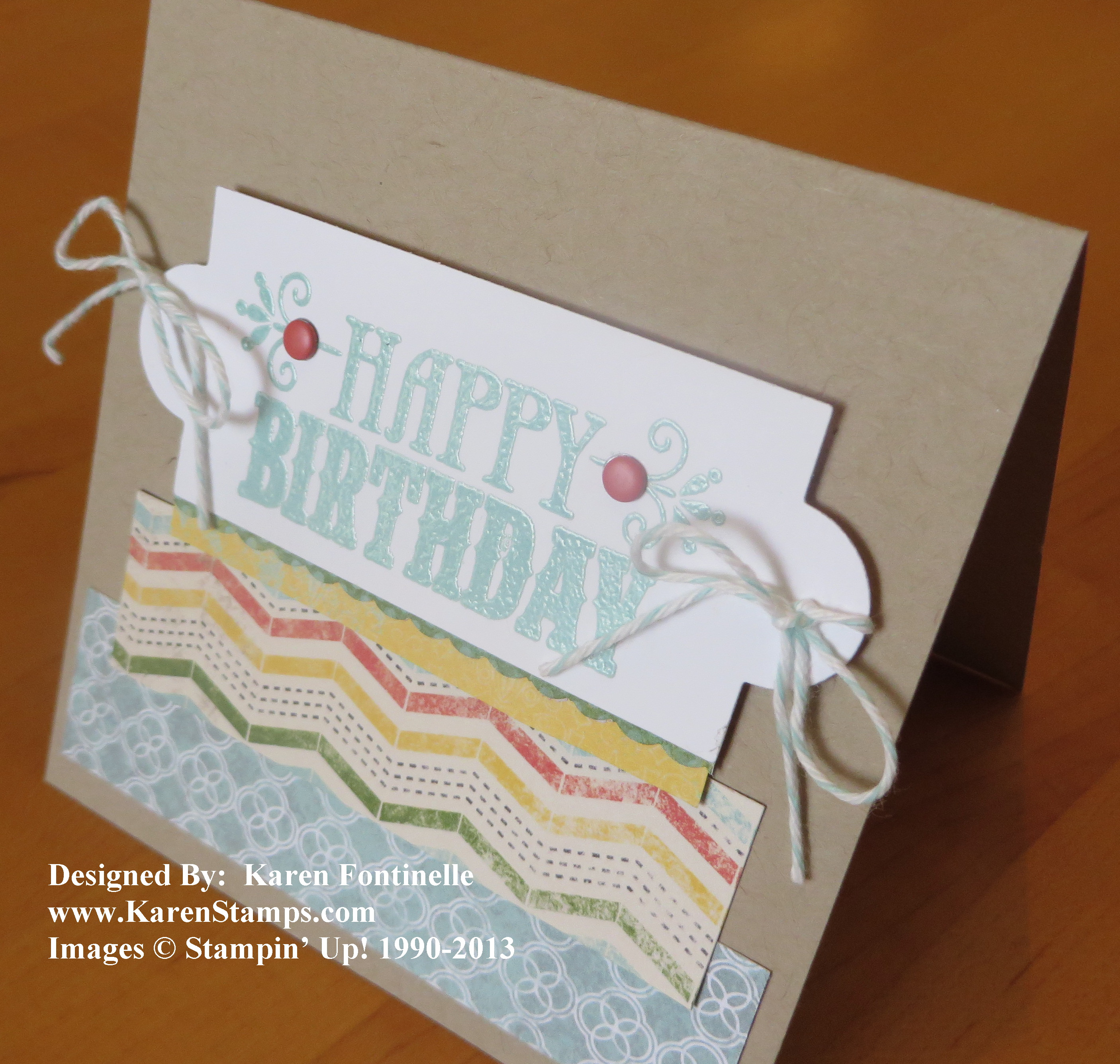 You're Amazing Birthday Card with Embossing