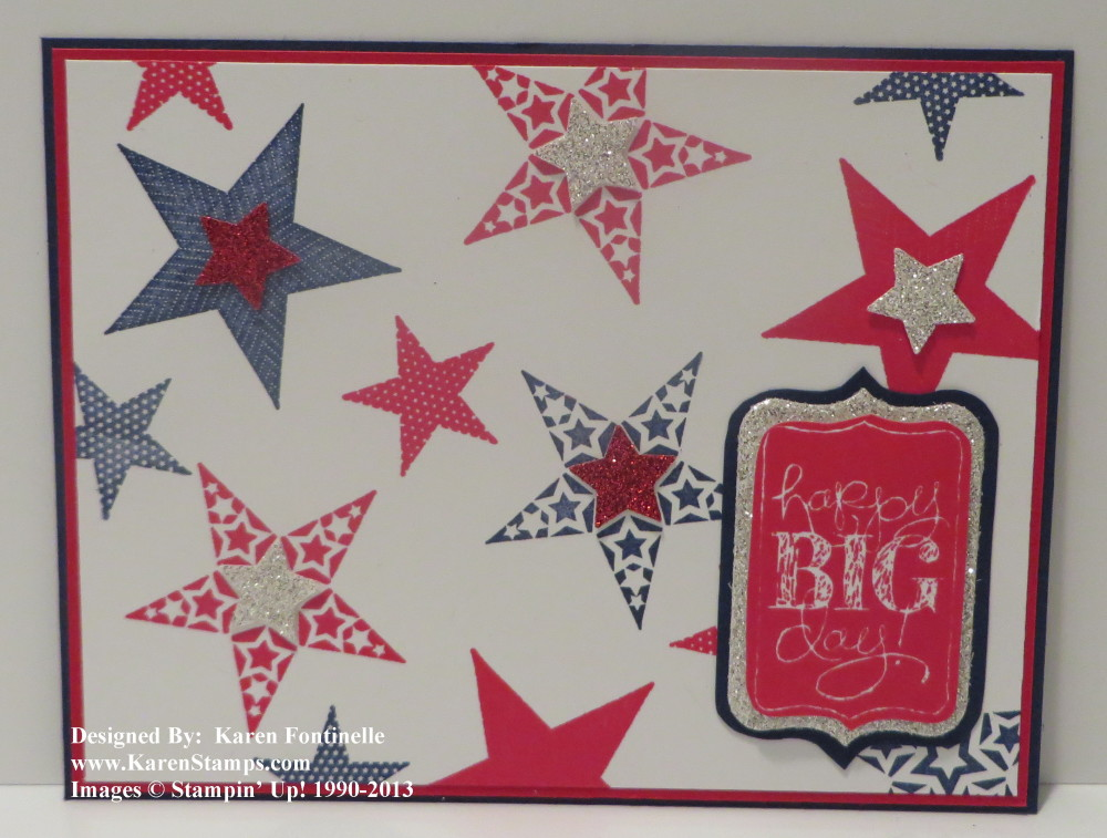 4th of July Simply Stars Card