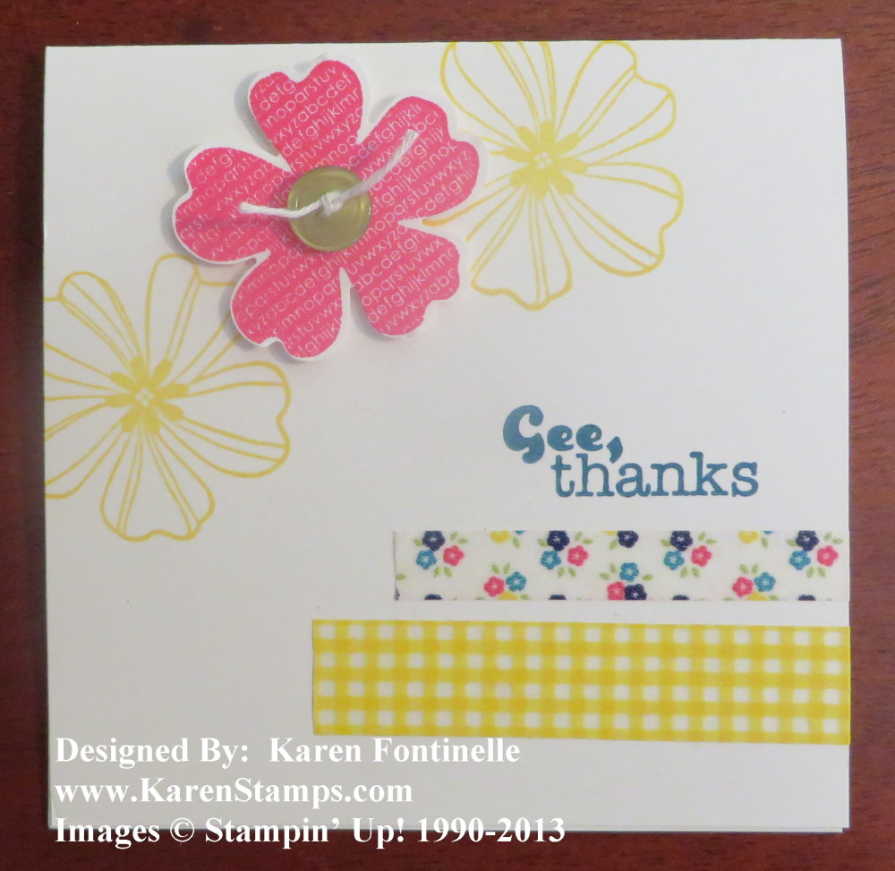 Flower Shop Washi Tape Thank You Card