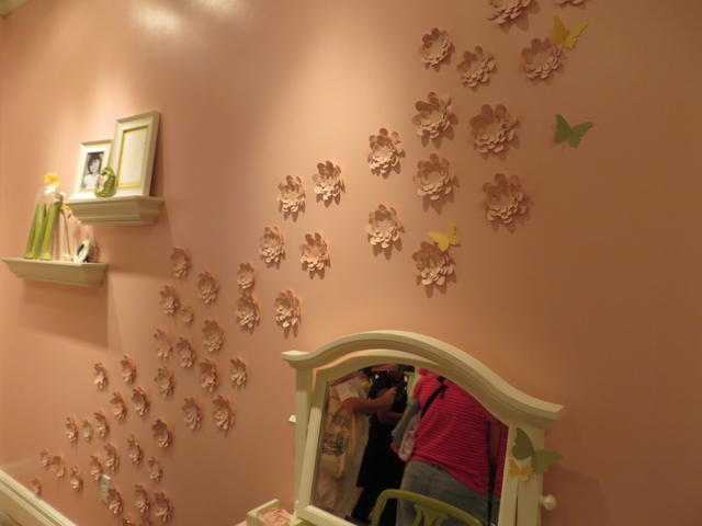 Decorate your wall with die cut flowers