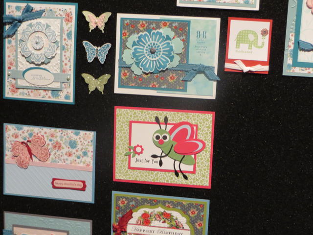 Stampin' Up! Convention Cards on Display
