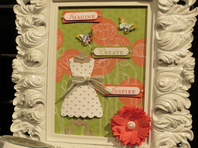 Dress Up Framelits art in a frame