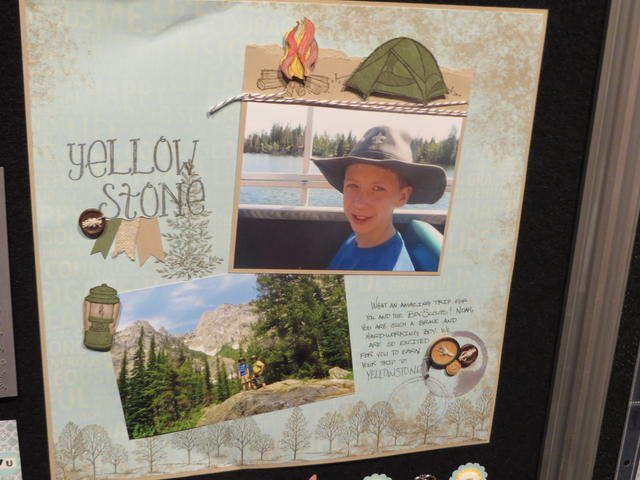 Yellowstone Natl Park Scrapbook Page