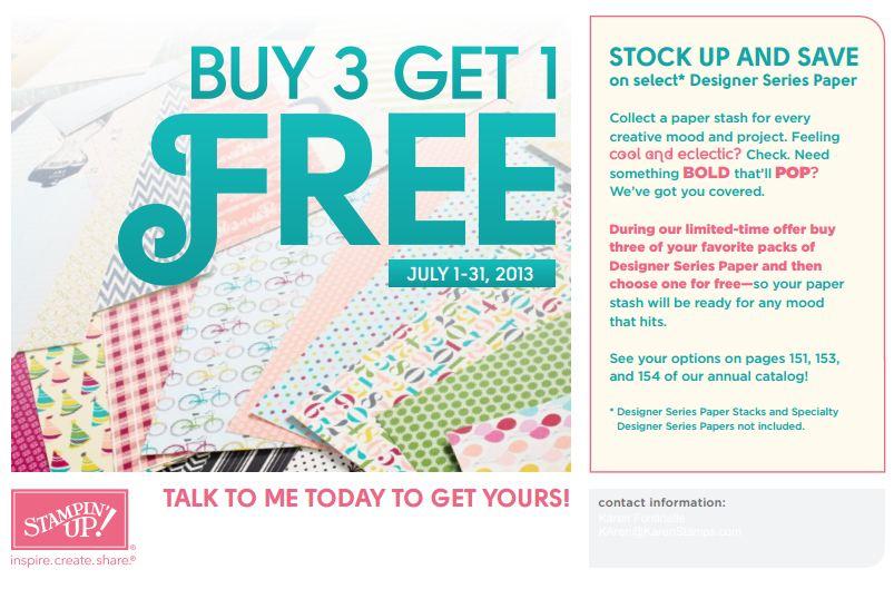 Stampin' Up! Buy 3 Designer Series Paper