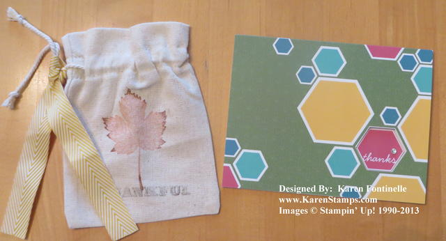 MDS Thanks Card Using Hexagon Punch