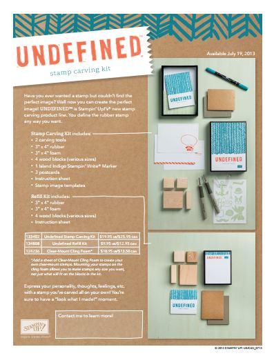 Undefined Stamp Carving Kit Flyer