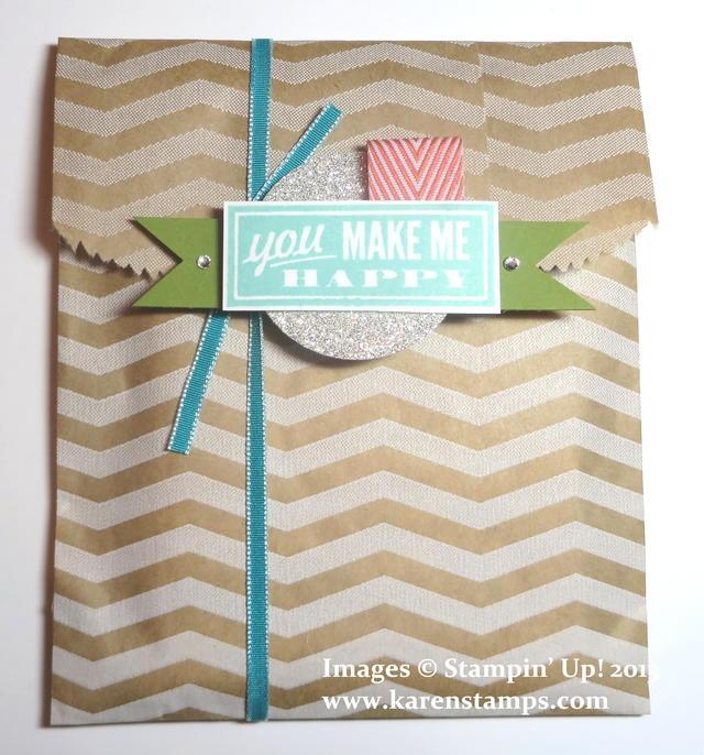 You Make Me Happy Notecard Gift Bag