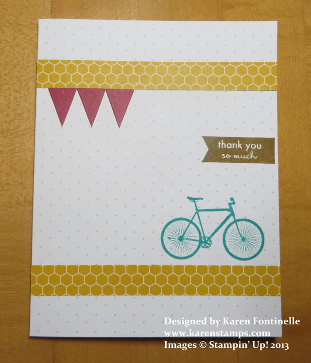 August Paper Pumpkin Kit Card with Bicycle