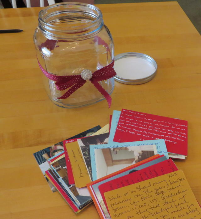 birthday jar of notes