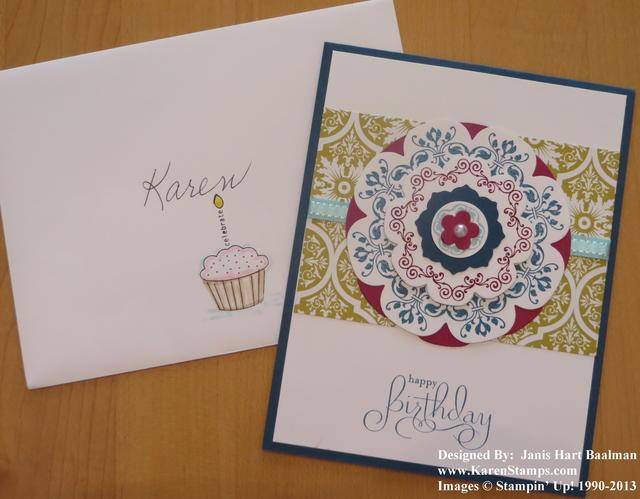 Daydream Medallions Birthday Card