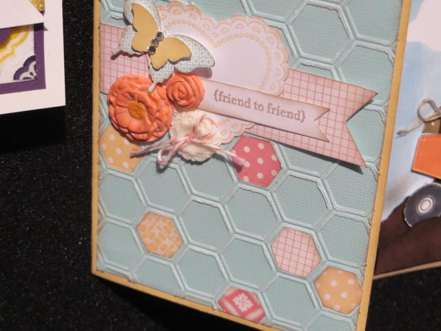 Honeycomb Embossed Friend Card