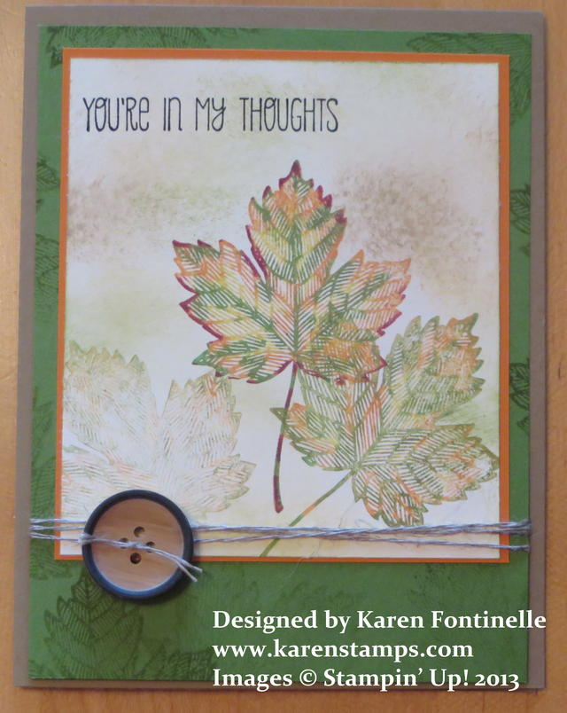 Magnificent Maple Fall Thinking of You Card