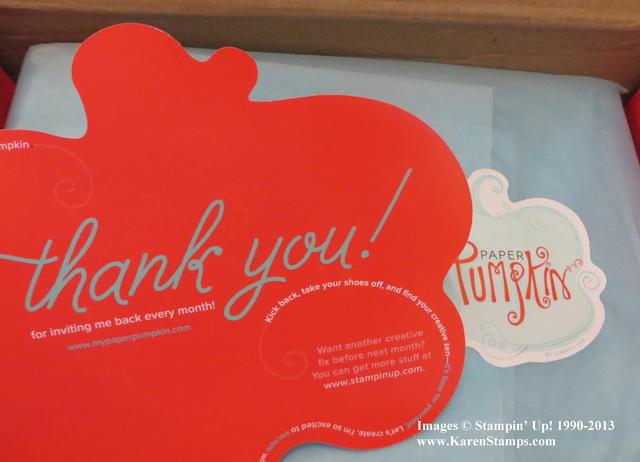 Thank You inside Paper Pumpkin
