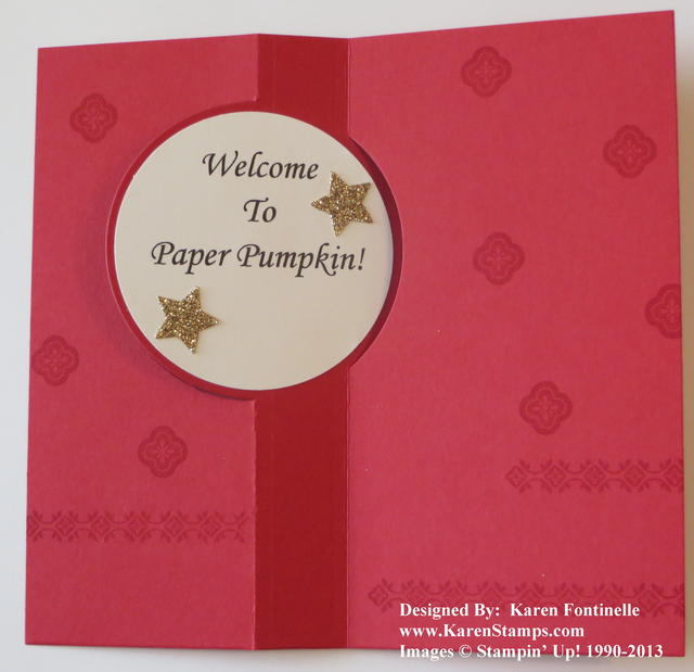 Paper Pumpkin Welcome Card for Joining