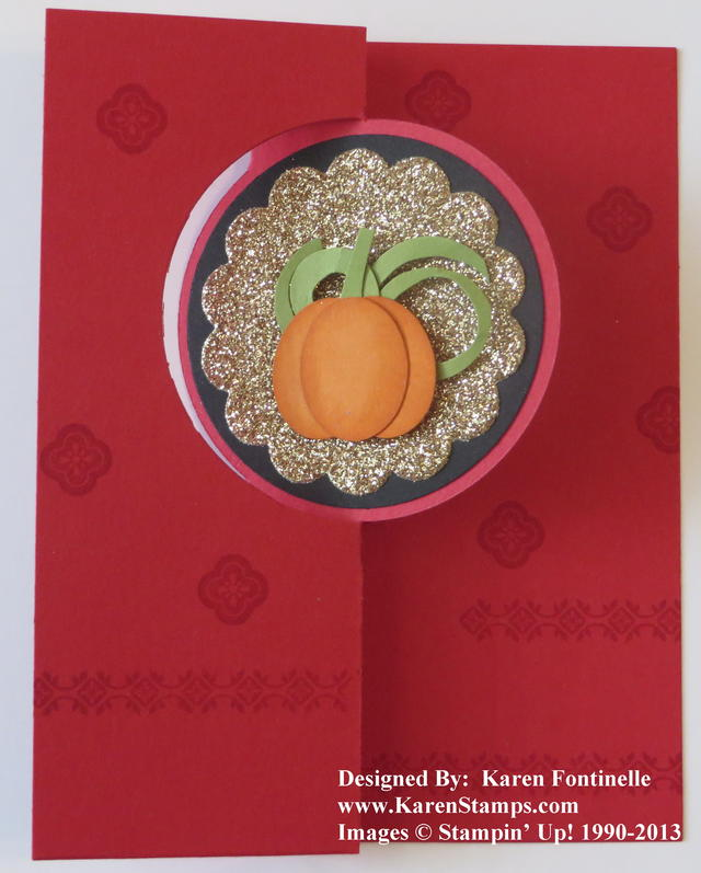 Paper Pumpkin card