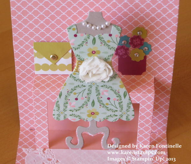 Dress Form Pop n Cuts Inside Card