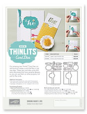 Thinlits Card Dies Flyer 2013