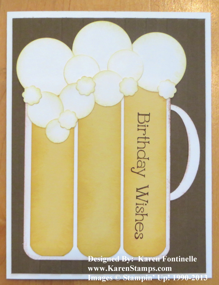 Birthday beer stein card stamping with karen birthday beer stein card m4hsunfo