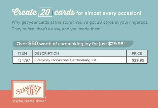 Everyday Occasions Cardmaking Kit Info