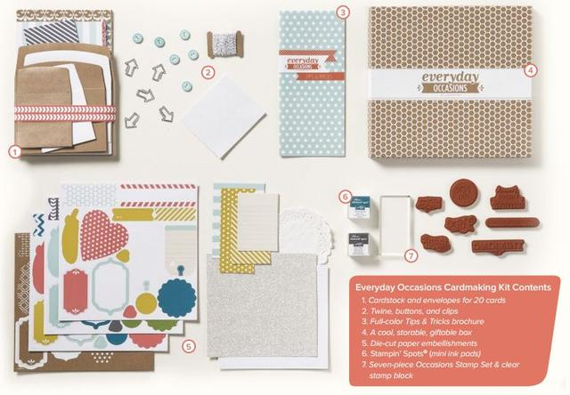 Everyday Occasions Cardmaking Kit Contents