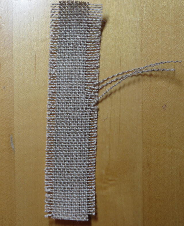 Fraying Burlap Ribbon