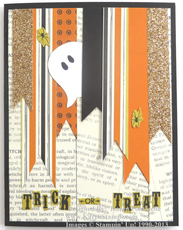 Halloween Card with Paper Scraps