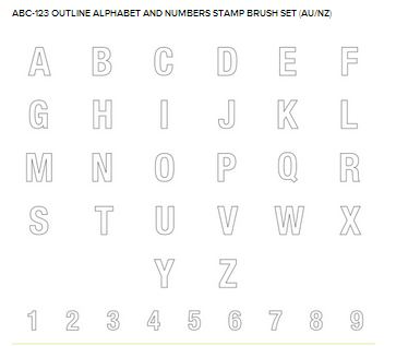 MDS Outline Alphabet