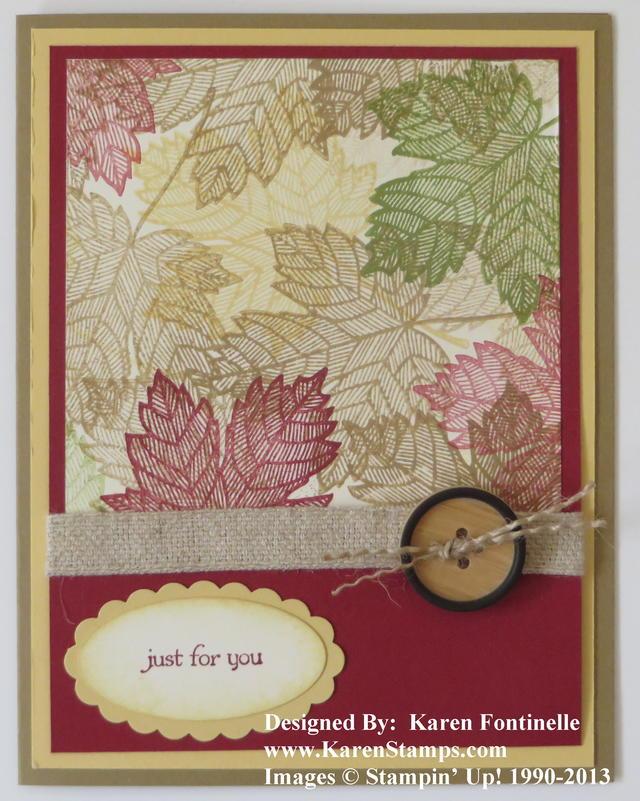 Magnificent Maple One Sheet Wonder Card