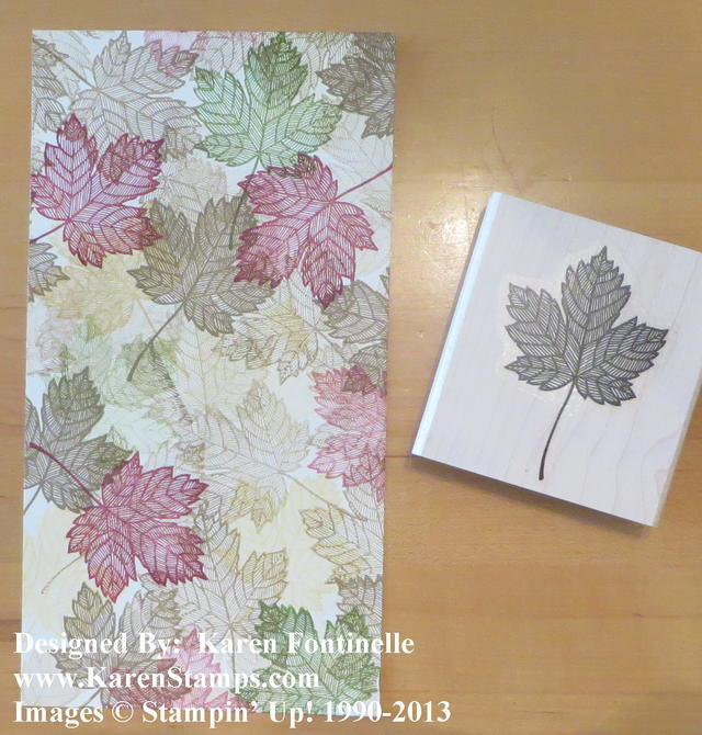 Magnificent Maple Leaf Card One Sheet Wonder Stamping