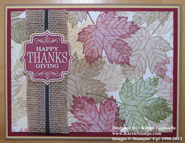 Magnificent Maple Leaf Thanksgiving Card