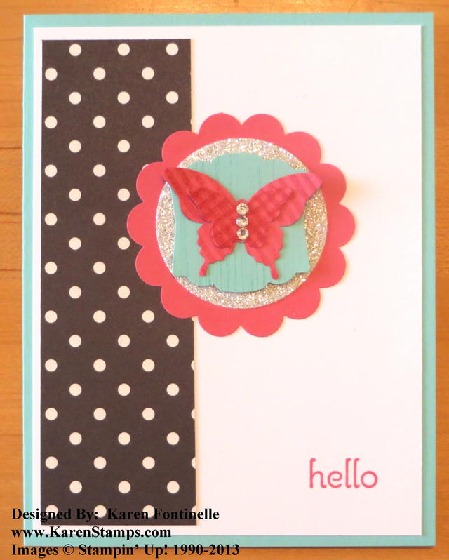 Modern Medley Bitty Butterfly Card
