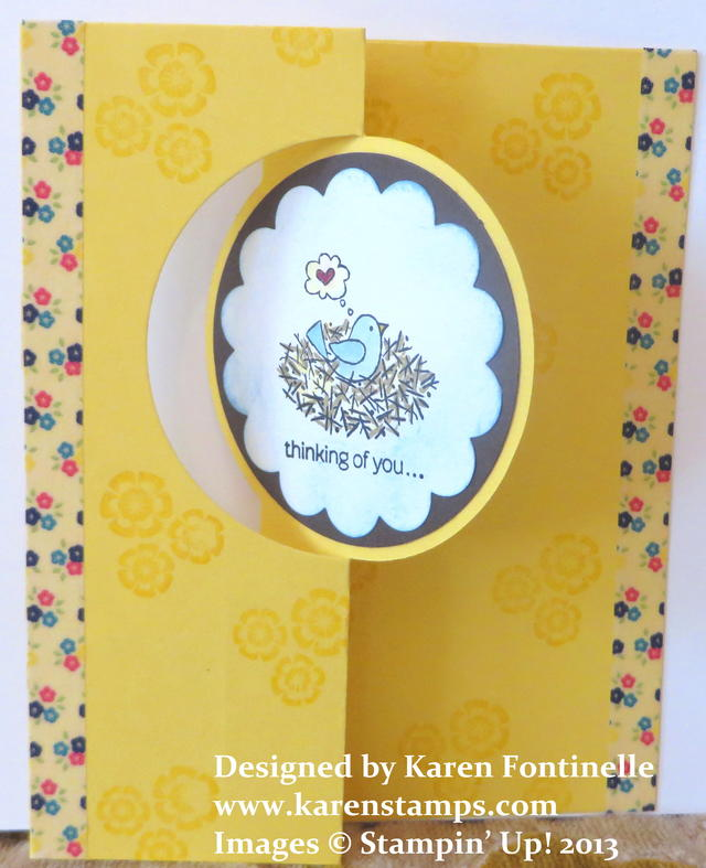 Thinking of You Circle Thinlits Card with For the Birds