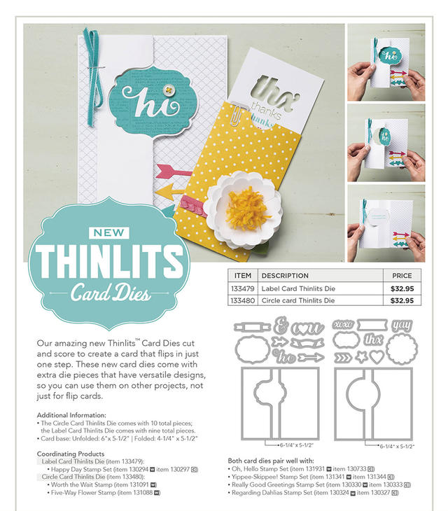 New Stampin' Up! Thinlits Dies