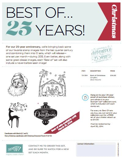 Best of Christmas Stampin' Up! 25 Years