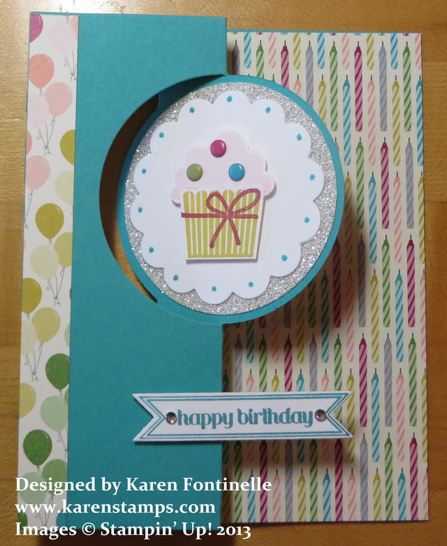 Cupcake Birthday Flip Card