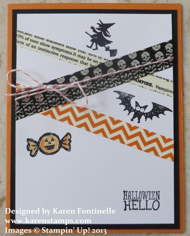 Halloween Hello Washi Tape Card