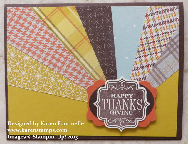 Thanksgiving Sunburst Card