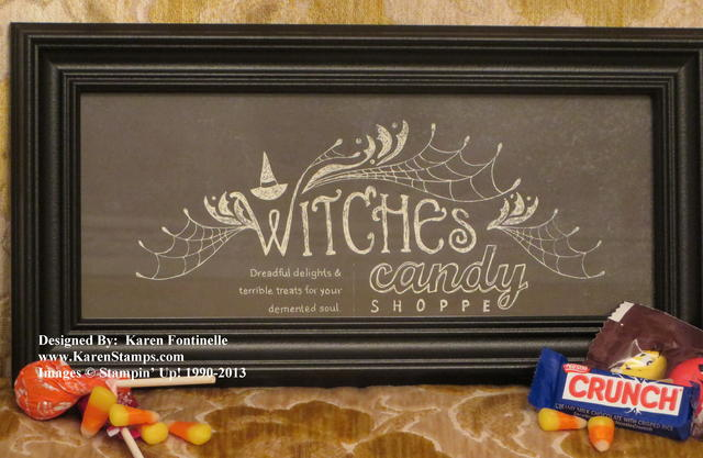 Witches' Brew Designer Series Paper Framed Art