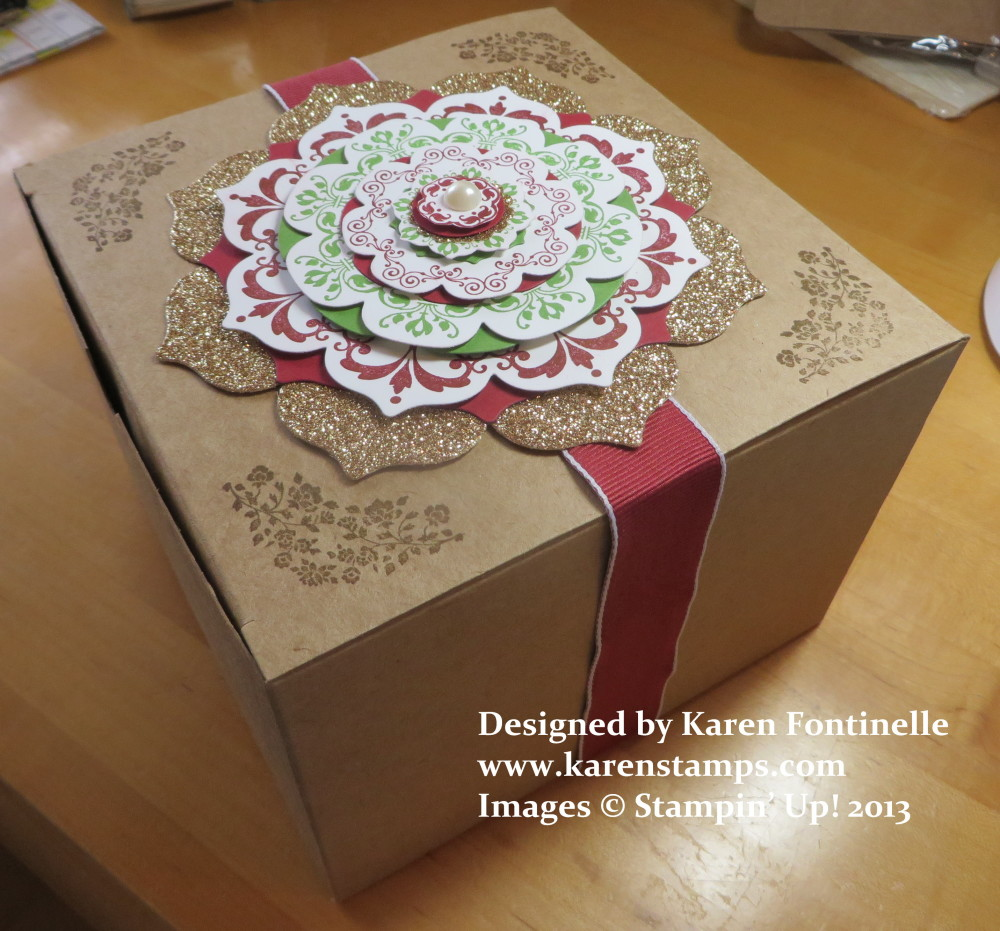 Decorate your kraft gift box with daydream medallions stamping daydream medallions kraft gift box negle Image collections