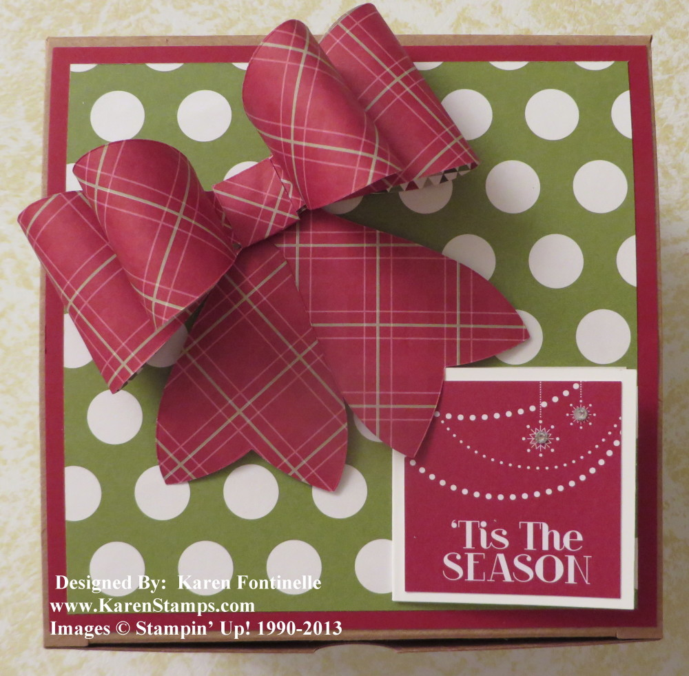 extra large kraft gift box with gift bow and tag - Large Christmas Gift Boxes
