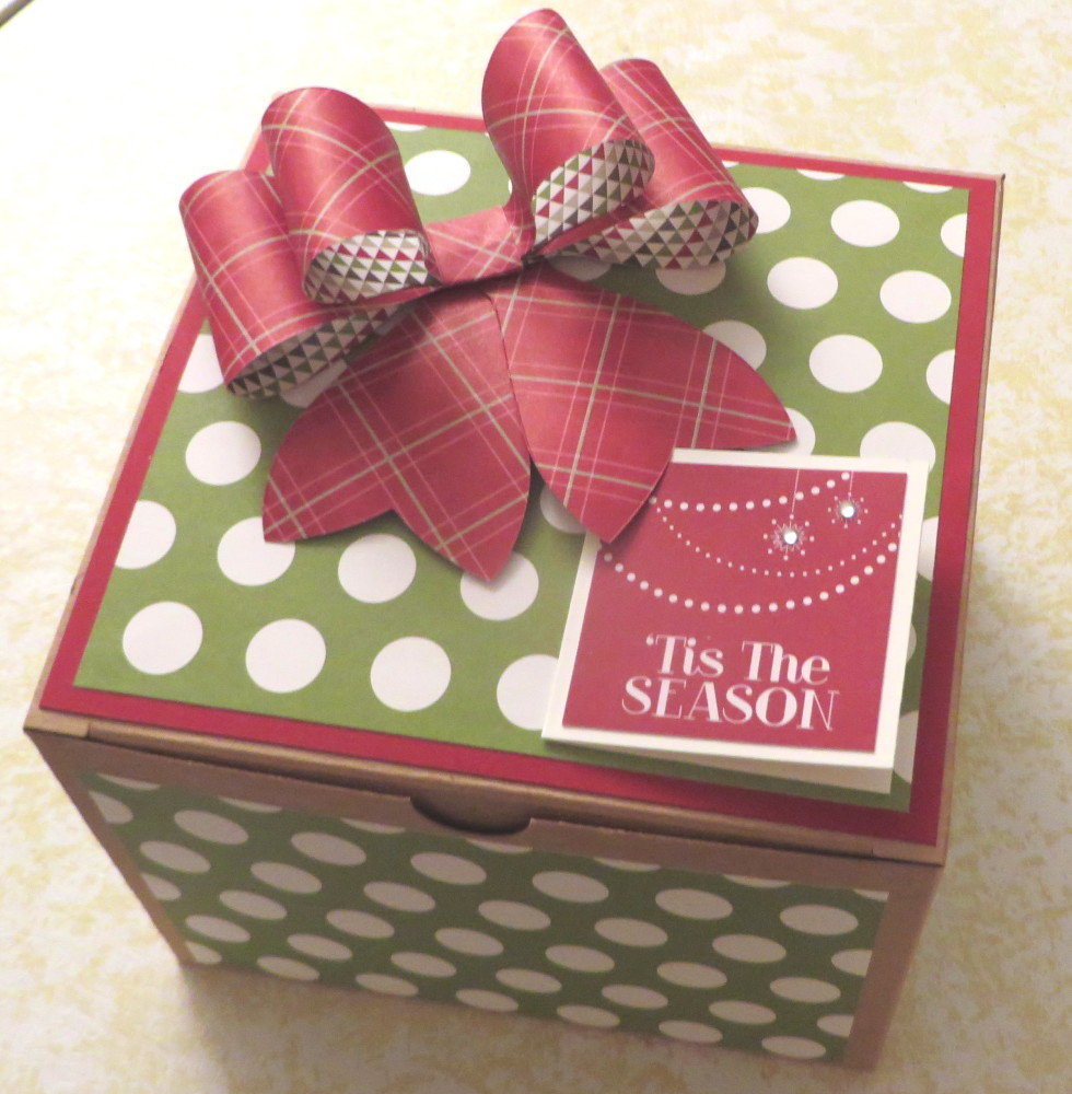 Fun Making Christmas Gift Boxes Stamping With Karen