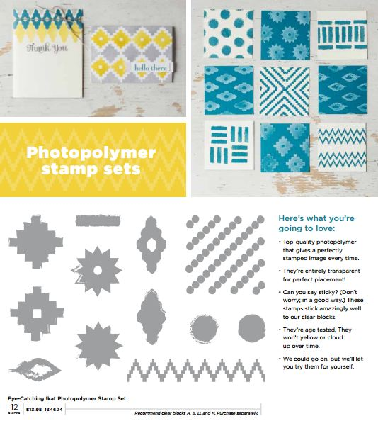 Ikat Photopolymer Stamp Set