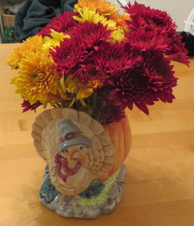 Ceramic Turkey Flower Holder