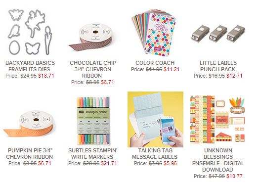 Stampin' Up! Weekly Deals Nov. 19