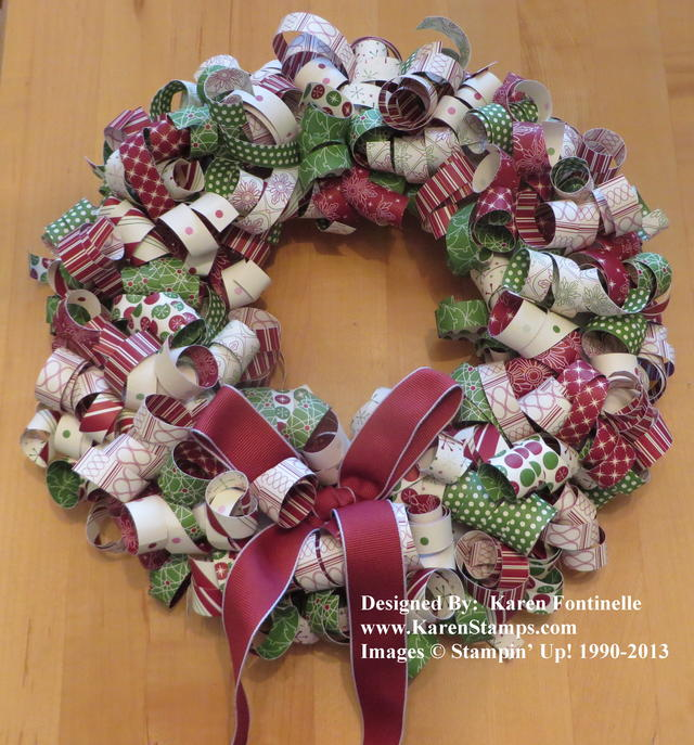 Be of Good Cheer Curly Paper Wreath